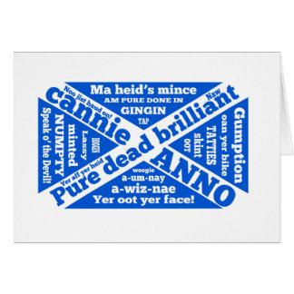 Argot y frases escoceses tarjeta de felicitación
