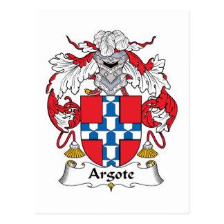 Argote Family Crest Postcard