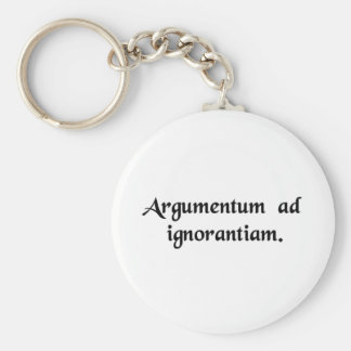 Arguing from ignorance keychain
