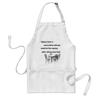 Arguing with a Dining Room Table Adult Apron