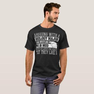 Arguing With Biology Major Wrestling Pig Tshirt