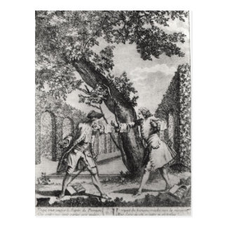 Argument between Jean-Jacques Rousseau Postcard