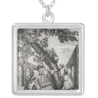 Argument between Jean-Jacques Rousseau Silver Plated Necklace