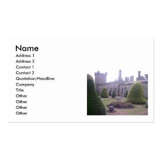 Argumentos del castillo en las torres de Alton, Tarjetas De Visita