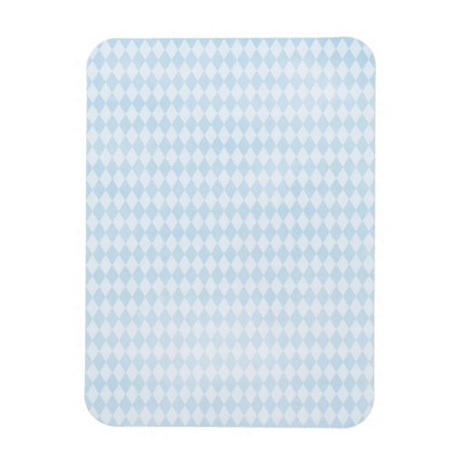 argyle09 LIGHT BABYBLUE POWDER BLUE ARGYLE PATTERN Flexible Magnet