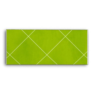 argyle20-green GREEN SQUARE ARGYLE PATTERNS RETRO Envelopes