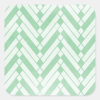 argyle23 MINT GREEN ZIG ZAG DIAMOND ARGYLE ZIGZAG Square Sticker