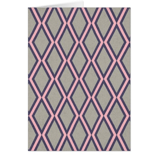 argyle27 LIGHT PINK GREY GRAY DIAMOND SHAPES PATTE Card