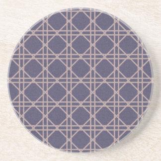 argyle28-purple PURPLE ARGYLE CIRCLES SQUARES PINK Coaster