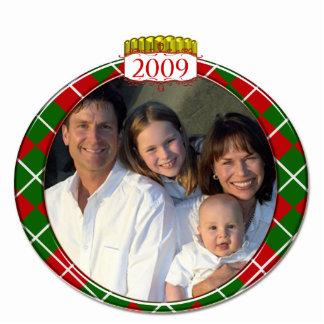 Argyle 2009 Family Photo Christmas Ornament