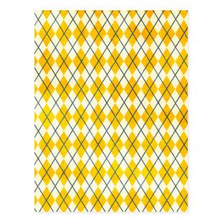 Argyle amarillo postal