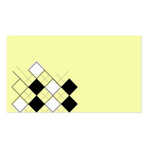 argyle amarillo tarjetas de visita
