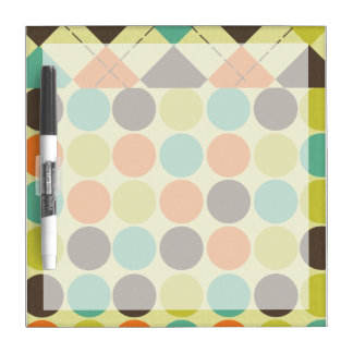 Argyle and Dots Dry Erase Board