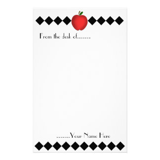 Argyle Apple Teacher Stationery