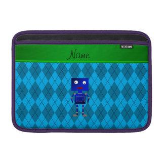Argyle azul conocido personalizado del azul de funda  MacBook
