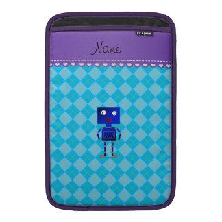 Argyle azul conocido personalizado del azul de fundas para macbook air