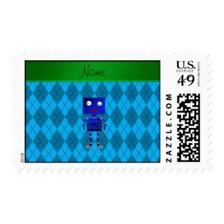 Argyle azul conocido personalizado del azul de sellos postales