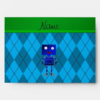 Argyle azul conocido personalizado del azul de sobres