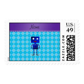 Argyle azul conocido personalizado del azul de timbres postales