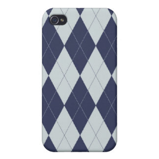 Argyle azul iPhone 4 coberturas
