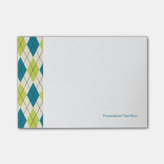 Argyle azul y verde notas post-it®