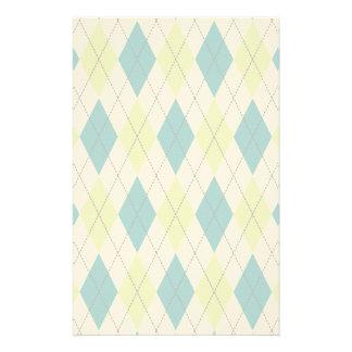Argyle azul y verde  papeleria de diseño