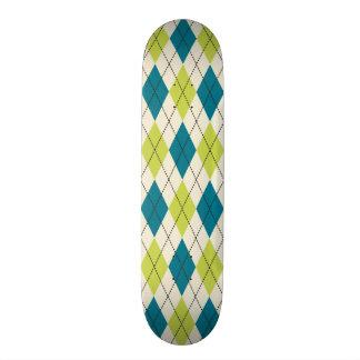 Argyle azul y verde patines