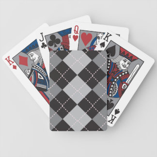 Argyle Black and Grey Bicycle Playing Cards