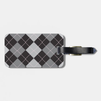 Argyle Black and Grey Tag For Bags