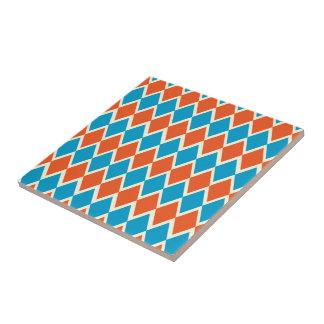 Argyle blanco anaranjado azul azulejo cerámica