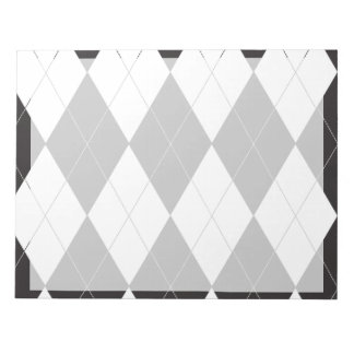 Argyle blanco y negro blocs de papel