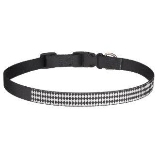 Argyle blanco y negro collar de perro