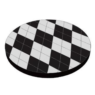 Argyle blanco y negro fichas de póquer