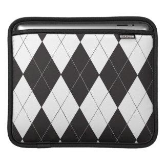 Argyle blanco y negro fundas para iPads