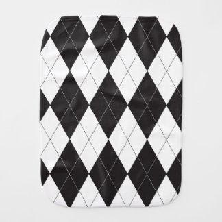 Argyle blanco y negro paños para bebé