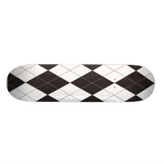 Argyle blanco y negro patin