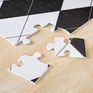 Argyle blanco y negro puzzles