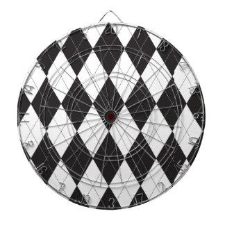 Argyle blanco y negro tabla dardos