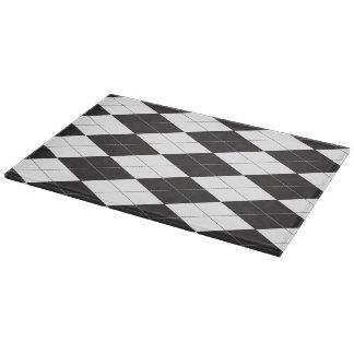 Argyle blanco y negro tabla de cortar