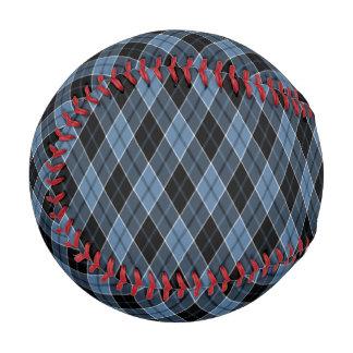 Argyle Blue Black White Stripes Diamond pattern Baseball