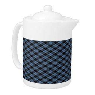 Argyle Blue Black White Stripes Diamond pattern