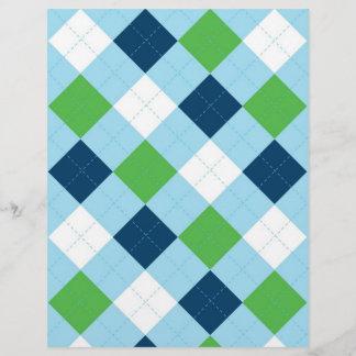 Argyle Blue Green Baby Scrapbook Paper
