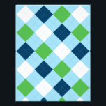 "Argyle Blue Green Baby Scrapbook Paper<br><div class=""desc"">These adorable scrapbook papers are perfect for your next party or scrapbook project.</div>"