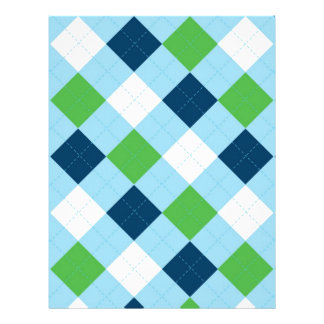 Argyle Blue Green Baby Scrapbook Paper