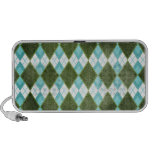 Argyle Blue Green iPhone Speaker