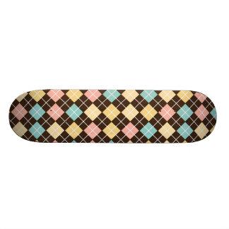 Argyle Brown Yellow Blue Pink Skate Decks