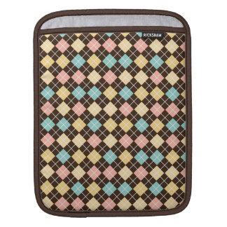 Argyle Brown Yellow Blue Pink Sleeves For iPads