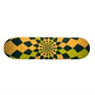 Argyle Burst/Flower - Citrus Skateboard Deck