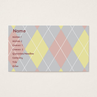 Argyle - Business Business Card