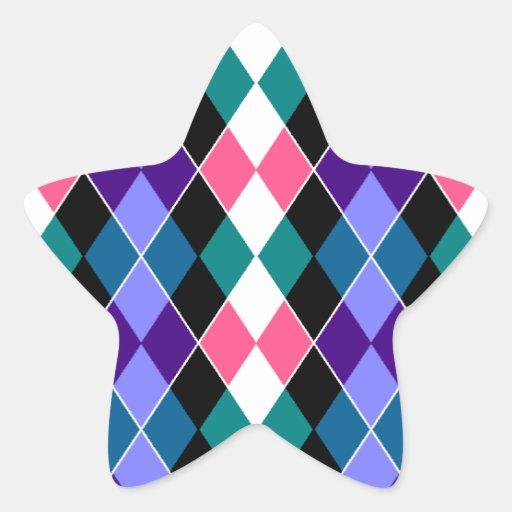 Argyle Calcomanias Forma De Estrella